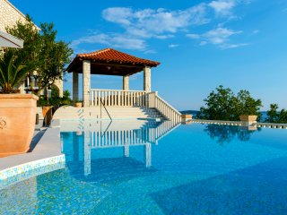 Mediterranean villa with astonishing view over the Adriatic sea and private pool