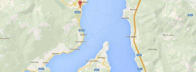 Ubicación de la propiedad en el lago de Como