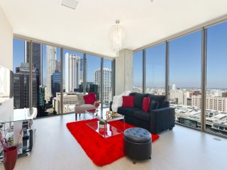 URBAN DTLA BLACK AND RED PENTHOUSE