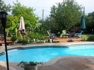 Pet-Friendly House with Secluded Backyard, Private Pool, Lots of Trees and 3 Dec