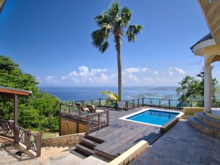 Private villa, breathtaking views, pool, wi-fi, AC, full staff, sleeps 10-12