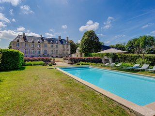 8 bedroom Chateau in Fontenay-sur-Mer, Normandy, France : ref 5049740