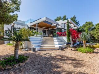 5 bedroom Villa in Cala Tarida, Balearic Islands, Spain : ref 5049290