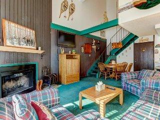 Retro, ski-in/ski-out condo w/ shared sauna - family friendly & prime location!