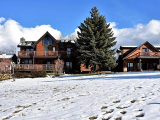 Upscale lodge with private hot tub, secluded on 100 acres! Dogs welcome!