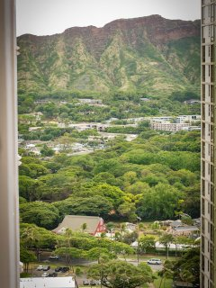 Diamond Head view to the side from balcony