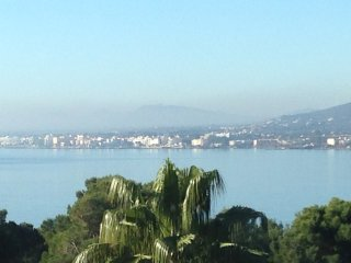 Very private villa with superb seaviews and palm garden. Pet friendly.