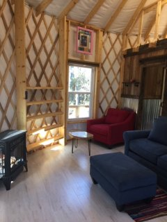 great room in yurt