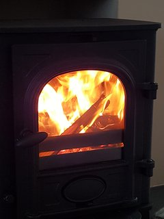 The wood burning stove for those wintry Scottish evenings after viewing the Northern lights.