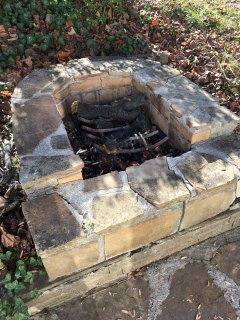 The fire pit is perfect after the sun goes down!  On your private patio....