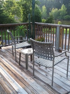Lake-view deck available