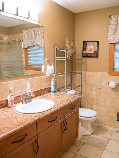 The Upstairs Main Bathroom (with Bathtub) Across the Hall from the Second Bedroom