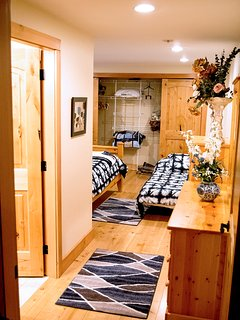 Another View of the Large Main Floor Master Room With the Second Bed and Lots of Closet Space!