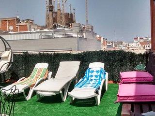 Sagrada Familia Flat Terrace 3 rooms