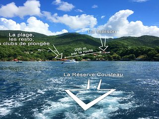 LOCATION FACE A  LA RESERVE COUSTEAU