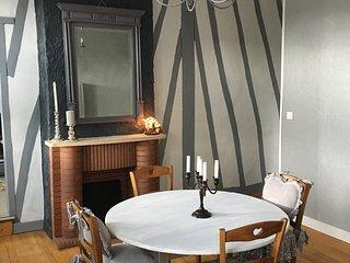 Appartement 165 m2 plein centre ville entierement meuble et renove tres calme...