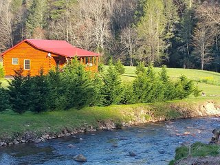 Luxury Riverfront Cabin!!! Close to Hot Springs, Asheville & Biltmore!!!