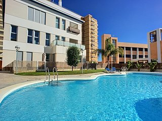 1st floor, balcony, free wifi, parking, communal pool