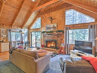 New! 1BR + Loft Cabin w/ Wooded Views & Fire Pit!