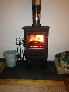 Cosy log burning stove for those cosy nights in
