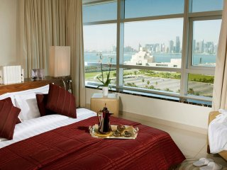Large family suite Situated along the picturesque Doha Corniche