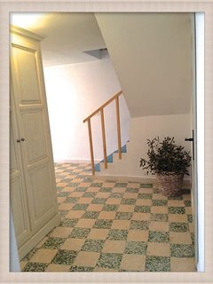 Landing Level: Left =kitchen. Right = WC. Ahead Left = Bathroom