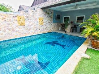 ★★★★★Pivate Pool Villa w/BBQ, 300m to beach