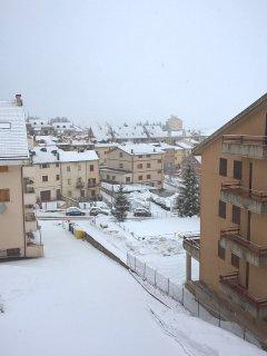 vista invernale dal'appartamento