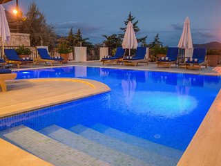 Enjoy night swimming in the private pool