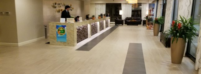 The lobby check in area