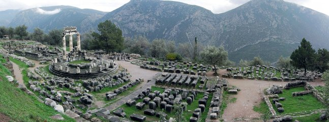 The ancient oracle sight of Delphi, an hour drive away from the Country House.