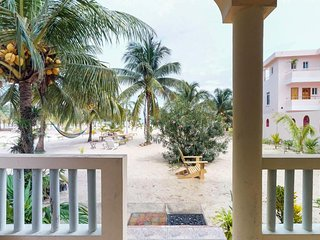 Cabana by the beach features ocean views & great location by Placencia Sidewalk!