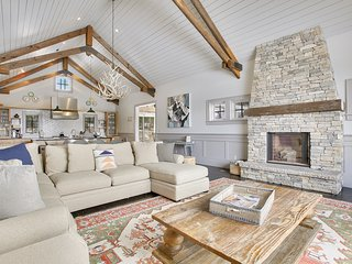 Vaulted ceilings provide depth and warmth to the main level