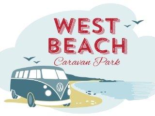 Luxury Holiday van at West Beach Caravan Park