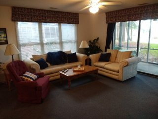 Fall rate reduction. $99 per night. Spacious condo with golf course view