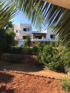 View of villa from garden