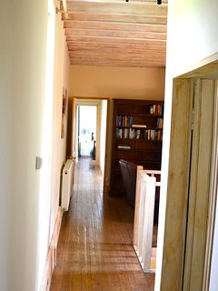 First floor hallway taken from family bathroom and 'blush' bedroom leading into landing, stairs and
