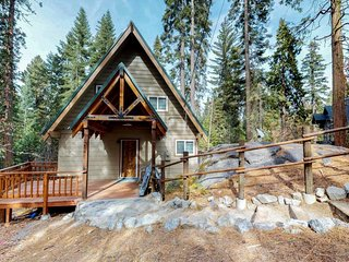 Contemporary cabin with plenty of room & lovely tree-lined views