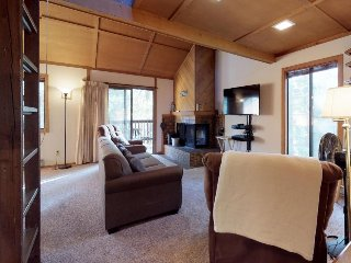 Cozy condo w/ deck, shared pool & hot tub, and great location near Shaver Lake