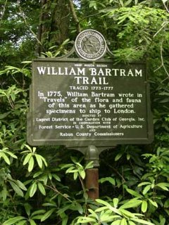 The 110 Mile Bartram Trail runs behind the cabin.  It intersects with the Appalachian Trail nearby.