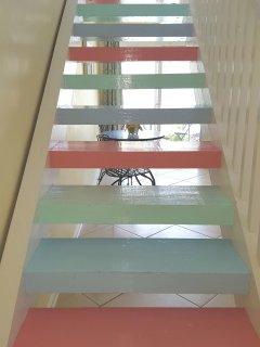Fun, colorful stairs