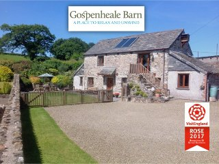 Gospenheale Barn, Visit England ROSE Award 2017, North Cornwall. PL15 8PQ