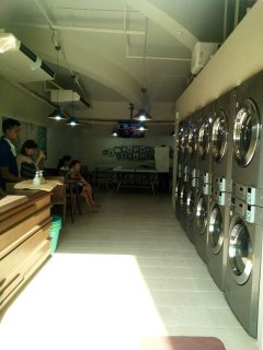 Laundromat located in the ground floor