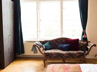 Elegant Bedroom in Historic Berlin Apartment