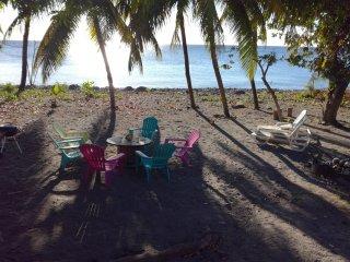 Villa pieds dans la mer des Caraibes de Saint Pierre