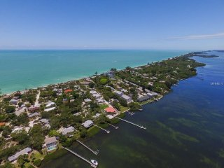 Aerial View of Manasota Key --Three Minute Walk to Private Beach Access