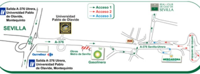 Acceso a la vivienda desde Sevilla o Utrera.