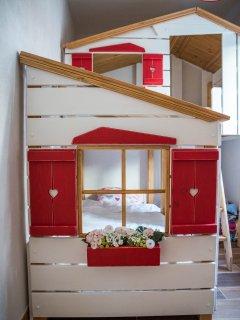 Lits cabane (1 adulte + 1 enfant-ado)