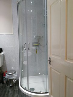 Bathroom showing shower