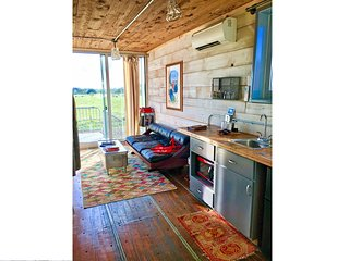 Ultra Mid-Century Modern Shipping Container Home Rental - Houze V